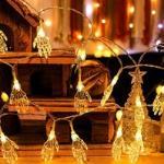 1 pezzo luce stringa halloween con 10 pezzi lampadina a forma di mano