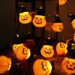 1 pezzo luce stringa halloween con 10 pezzi lampadina a forma di zucca