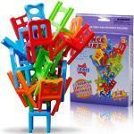 18 PCS Giocattoli Bilanciamento Plastica Sedie Multicolore Mini Impilabile Intelligenza Multiplayer Gioco Dell'equilibrio Bambini Gioca Giocattoli Educativi Playset per Unisex Ragazzo Ragazza Adulti