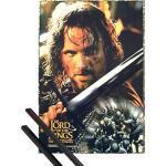 1art1 Il Signore degli Anelli Poster (98x68 cm) Le Due Torri, Aragorn E Coppia di Barre Porta Poster Nere