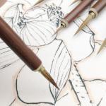 3 pezzi set pennello da scrittura sottile