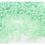 3300 perline in vetro Ceylon, 3 mm, 7 colori, 8/0, perline per pony, Ceylon, perline in seta Silky Seed Beads, colori assortiti (verde)
