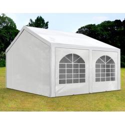 3x4 m Tendone per Feste, Gazebo PE 240 g/m², bianco