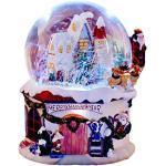 """5,9""""Sfera di Neve Musicale Natalizia, Sfera di Neve Scintillante con Acqua di Natale Cupola Rotante, Sfera di Neve Decorativa da Tavolo in Resina, Regali per Compleanno/Natale/Giorno del Ringrazi"""