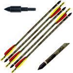 5 Frecce Freccia Per Tiro Con Arco 30/65 Libbre In Carbonio Mimetiche Da 30' Area