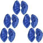 5 Paia Copriscarpe Impermeabili Antiscivolo Riutilizzabili Portatile Per Lavorare Garage - Blu, 30 x 14cm