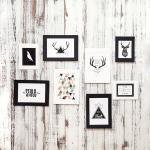 8pz Cornice per foto da parete in carta