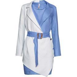 Blazer blu per l'estate lunghi manica lunga per Donna SAHOCO