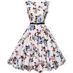 Abito da sposa partito dei vestiti Hepburn stile pannello esterno pieno delle donne Floral-22