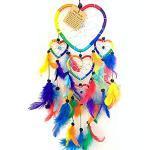 Acchiappasogni multicolore in nylon e perline, da appendere per decorare la casa e le stanze dei bambini