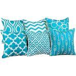 """Aiserkly - Set di 6 federe Decorative per Cuscini da Divano, in Cotone e Lino, Decorazione per la casa, 45 x 45 cm, Cotone, Blue, 45cm 45cm/18 18"""""""