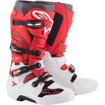 Alpinestars Tech 7 Stivali Motocross, bianco-rosso, dimensione 48