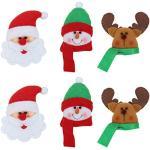 Amosfun - Calamita Natalizia per Frigorifero, Motivo: Babbo Natale, per Cucina, casa, Santa Claus,Snowman,Deer, 6 Pezzi
