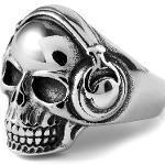 Anello in acciaio con teschio musicale