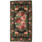 Annodato a mano. Provenienza: Moldova Tappeto Orientale Kilim Rose Moldavia 215X413 Grigio Scuro/Verde Scuro (Lana, Moldavia)