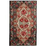 Annodato a mano. Provenienza: Moldova Tappeto Tessuto A Mano Kilim Rose Moldavia 191X317 Rosso Scuro/Nero (Lana, Moldavia)