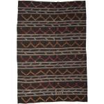 Annodato a mano. Provenienza: Turkey 247X363 Tappeto Orientale Kilim Semi-Antichi Turchi Marrone Scuro/Grigio Scuro (Lana, Turchia)