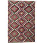 Annodato a mano. Provenienza: Turkey Tappeto Kilim Semi-Antichi Turchi 192X297 Grigio Scuro/Rosso Scuro (Lana, Turchia)