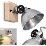 Applique Svanfolk, in metallo in acciaio grigio/acciaio inox, 1 luce, con faretto orientabile, 1 lampadina E27, max. 25 W, design industriale