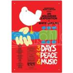 Aquarius Ent Woodstock Red Tin Sign Insegna