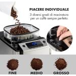 Aromatica X Macchina del Caffè Macinino Brocca in Vetro Aroma + Acciaio