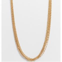 ASOS DESIGN Curve - Collana con catena multifilo sottile, color oro