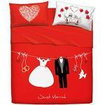 Bassetti Completo Letto copriletto Home Innovation Matrimoniale Art. Love IS A Couple