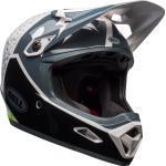Bell Transfer-9 Downhill Casco, nero-bianco-verde, dimensione S