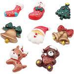 BESTonZON Calamite Frigo magneti da frigo Forma Albero di Natale Babbo Natale Renna Calza di Natale Campana di Natale Orso Decorazioni addobbi Natale 8 Pezzi