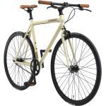 BIKESTAR Singlespeed 28 Zoll City Bike Beige/Brown