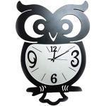 Bollaer, orologio da parete a forma di gufo, decorazione da parete, in ferro battuto, decorazione creativa per soggiorno, decorazione da parete, semplice camera da letto, orologio da parete