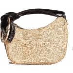 borbonese Borsa Donna a Mano Luna Bag Petite linea Icona in Camoscio Op Natural Black