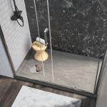 Box doccia 135 cm a nicchia porta scorrevole apertura laterale altezza 190 cm