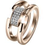 Breil Jewels Ring Gioielli Breilogy Anello #14 SS Ip Rose SWA Acciaio 14