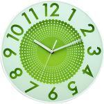 BUVU ZH09792C - Orologio da parete in plastica, 30 x 30 x 5 cm, colore: Verde