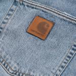 Carhartt Pantaloni Klondike Blue Denim 2 - Worn Bleached 33/32