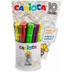 Carioca 10 Colors Multi Penna A Sfera Retrattile A Clip 12 Pz