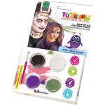 Carnival Toys 7386 - Kit Trucco Professionale ad Acqua Strega/Pennello in Scatola, Multicolore