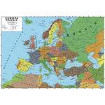 Carta geografica murale europa 100x140 scolastica bifacciale fisica e politica