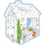 Casa di Cartone Casa Giocattolo da Pitturare