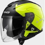 Casco Jet LS2 OF521 INFINITY BEYOND Black Yellow Hi-Visibility