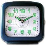 Casio Sveglia con Lancette Allarme Singolo Tasto Snooze Tasto Illuminazione Azzurro/Bianco
