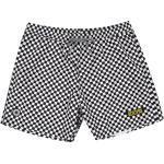 Checkered Swim Trunks - Black/White