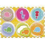 Chicco Gioco Tappeto Puzzle Degli Animali, Morbido Tappeto per Gattonare Composto da 6 Tesserecomponibili, 1-4 Anni