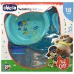 Chicco Set Pappa Azzurro 44 Gatti 18mesi+
