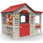 Chicos Casetta per bambini da esterno Grand Cottage XL beige con tetto rosso unica (La fabbrica dei giocattoli 89627)