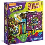 Clementoni - 12039 - Ninja Turtles Gioco di società, 50 Giochi Riuniti