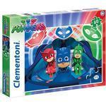 Clementoni Masks-60 pcs-Supercolor PJ MARKS Puzzle, Multicolore, 60 Pezzi, 26972