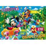 Clementoni Puzzle 25436 - La Casa di Topolino: Free Style Competition - Floor 40 pezzi