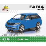 COBI- Skoda Fabia Combi' 2019 Kit di Modelli di Blocchi di Costruzione, Colore Vario, COB24571